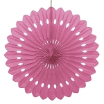 HOT PINK 16 inch tissue paper fan