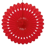 16 inch tissue paper fan RED UI64265