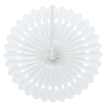 16 inch tissue paper fan WHITE UI64267