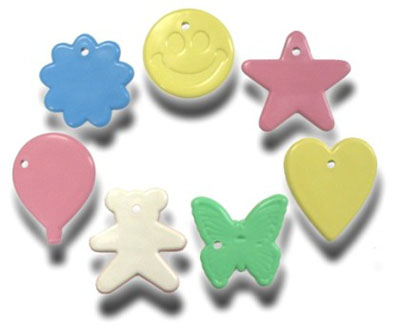 Plastic balloon weight 8 gram PASTEL ASST (100 pcs)