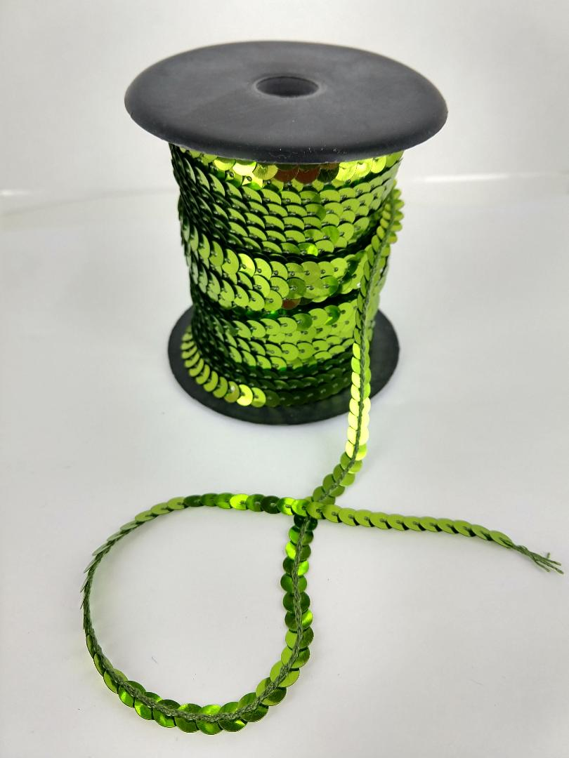 LIME Sequin roll 50 yards