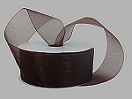 Monofilament organza ribbon CHOCOLATE BROWN