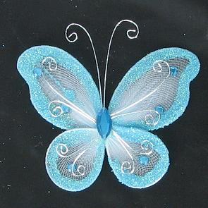 Organza Butterfly Light Blue