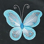 Organza butterfly LIGHT BLUE