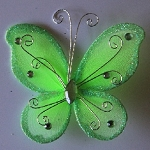 Organza butterfly APPLE GREEN