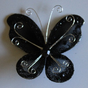 Organza butterfly BLACK