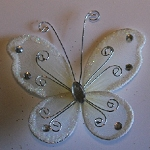 Organza butterfly IVORY