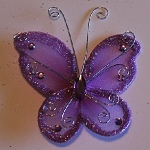 Organza butterfly LAVENDER