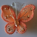 Organza butterfly ORANGE