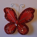 Organza butterfly RED