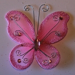 Organza butterfly SHOCKING PINK