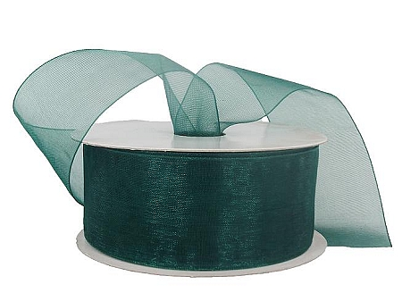 Monofilament organza ribbon HUNTER GREEN