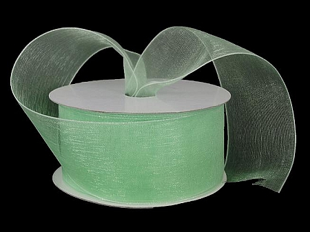 Monofilament organza ribbon MINT GREEN