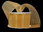 Monofilament organza ribbon OLD GOLD