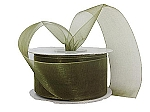 Monofilament organza ribbon OLD WILLOW SAGE
