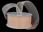 Monofilament organza ribbon PEACH