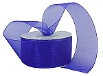 Monofilament organza ribbon PURPLE
