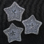Wired organza stars SILVER