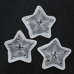 Wired organza stars WHITE