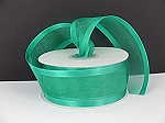 Satin edge organza EMERALD 3/8