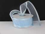 Satin edge organza LIGHT BLUE 3/8