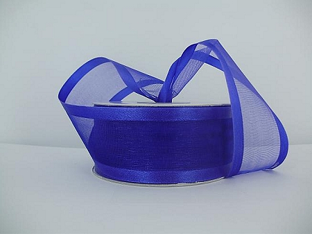 Satin edge organza PURPLE  3/8
