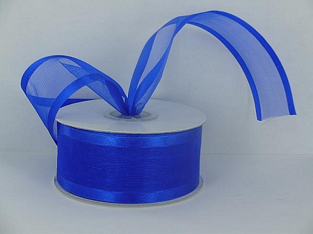 Satin edge organza ROYAL BLUE 3/8