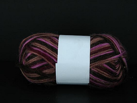Yarn 9537 VARIEGATED PINK/BROWN: 80% acrylic  20% wool