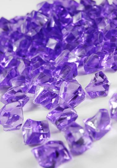 Lavender Decorative Transparent Acrylic Glass Like Stone Rocks