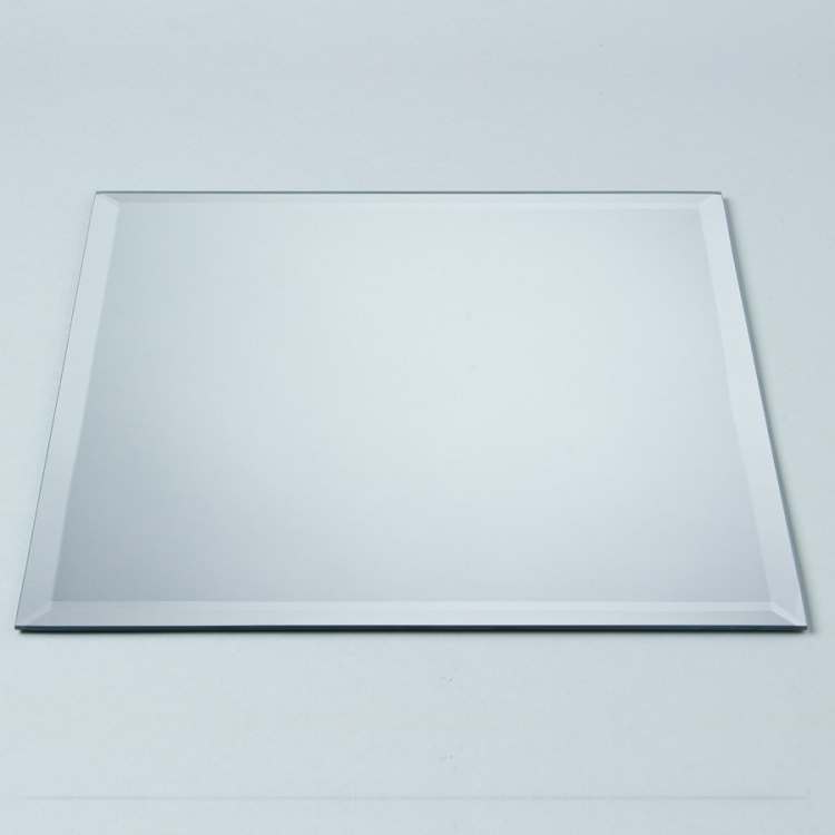 Square beveled mirrors