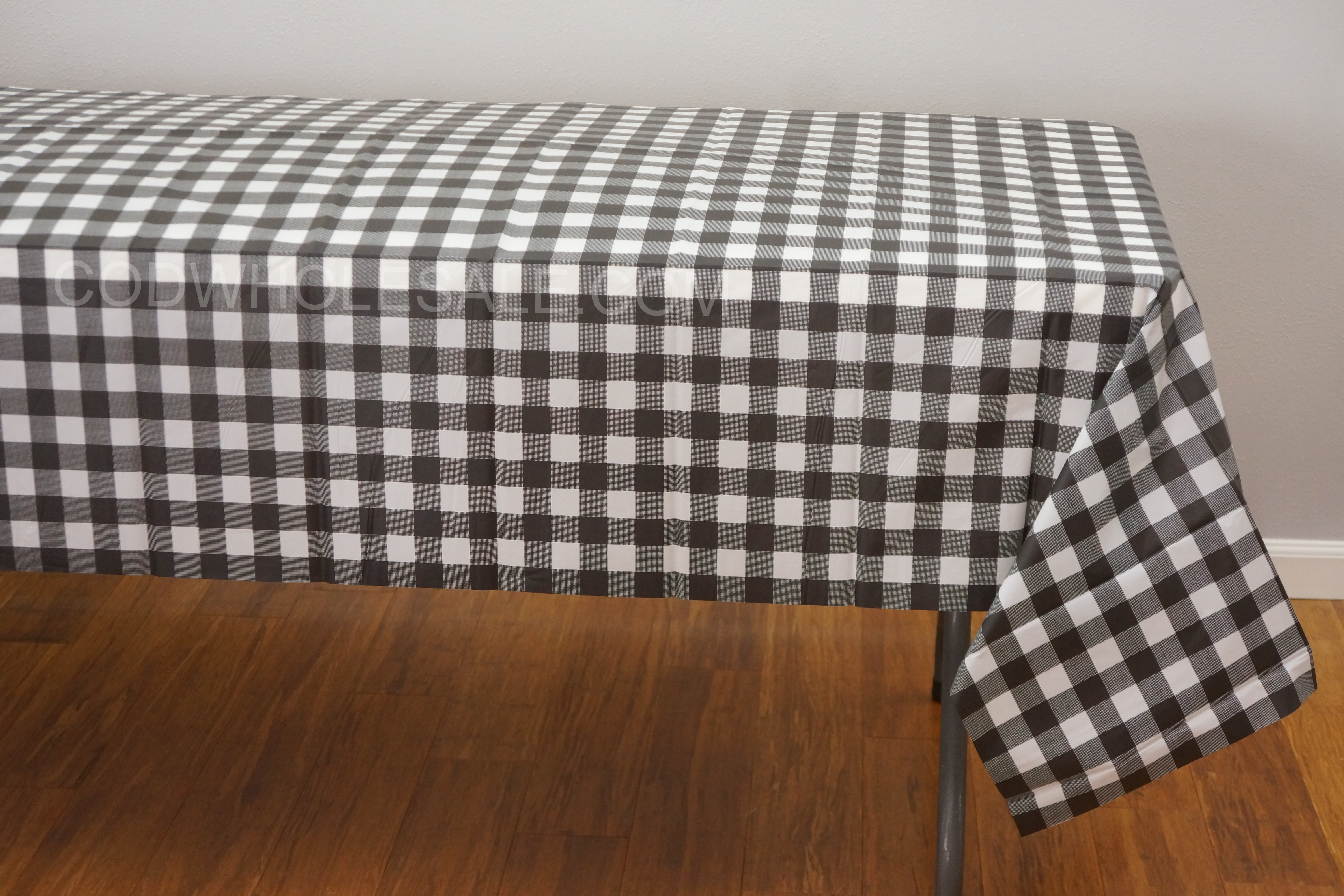 Black Rectangle Plaid Tablecloths