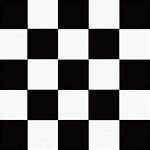 BLACK/WHITE checker beverage napkins (50 pieces)