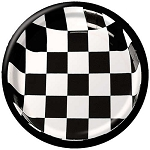 BLACK/WHITE checker  8-3/4