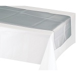 Table runner METALLIC SILVER