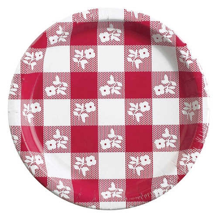 RED/WHITE Gingham paper 7
