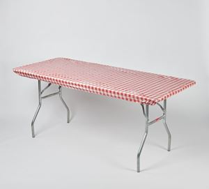 RED/WHITE GINGHAM 8 foot Kwik Cover