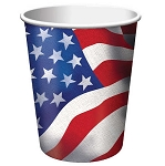 Paper cup hot/cold 9 ounce patriotic 8 pieces 372534