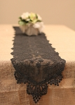 LS157-79 Black lace table runner