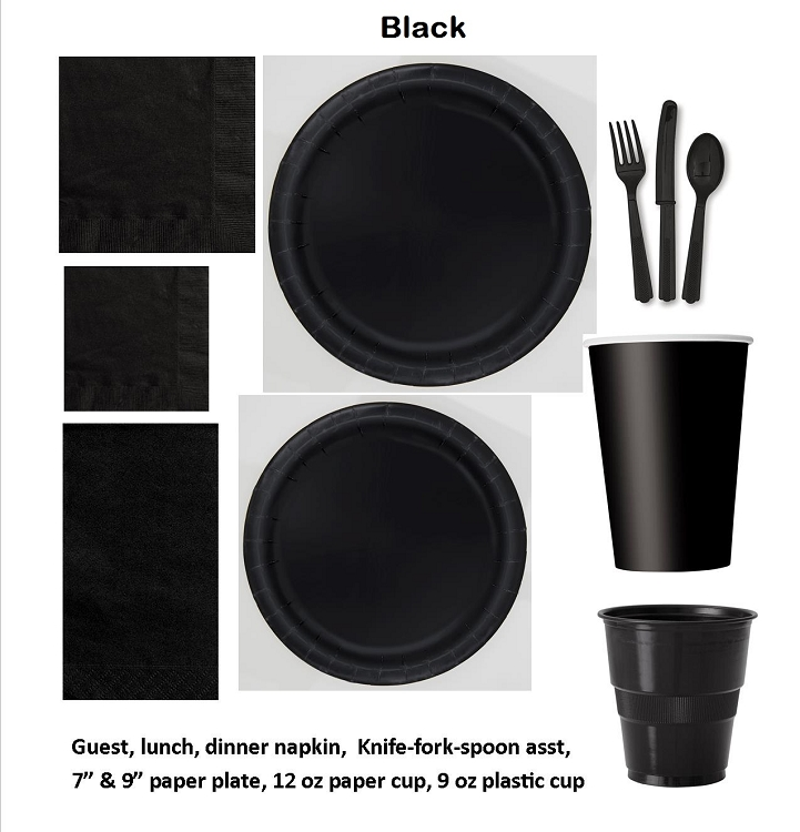 BLACK tableware CLOSEOUT