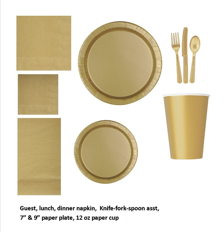 Gold tableware CLOSEOUT