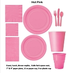 HOT PINK tableware