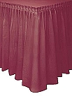BURGUNDY plastic tableskirt
