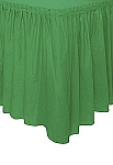 EMERALD plastic tableskirt