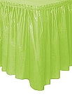 APPLE GREEN plastic tableskirt