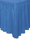 ROYAL BLUE plastic tableskirt