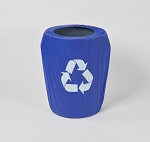 Kwik-can cover BLUE w/ Recycle Logo (55 gallon)