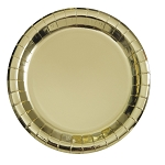 Metallic gold paper plate