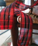 Black/red Plaid ribbon