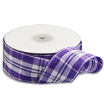 Purple/white Plaid ribbon
