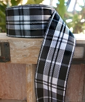 Black/white Plaid ribbon